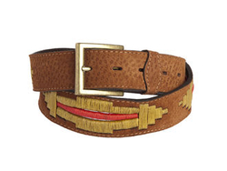 *NEW SEASON* Capybara Red Cut leather belt - Gaucho Belts