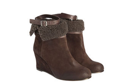 *NEW SEASON* Sadia wedge shearling boot - Humanoid