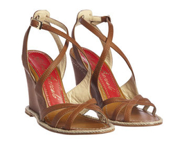 Strappy wedge leather sandal - Paloma Barcelo