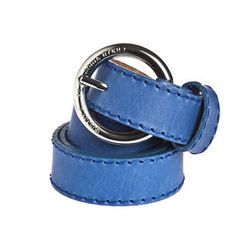 *NEW SEASON* Plain leather belt with silver buckle - Sonia by Sonia Rykiel