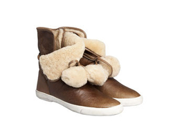 *NEW SEASON* Putty Shearling Bobble Boot - ASH